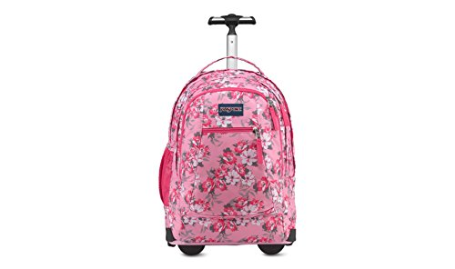JanSport Driver 8 Rolling Backpack- Exclusive Colors (Prism Pink Pretty Posey)