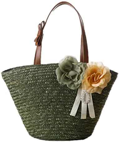 4b11e52be6bc Shopping Straw or Faux Leather - Greens - Shoulder Bags - Handbags ...