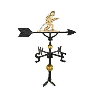 Montague Metal Products 81,3cm Deluxe forma de gallo con adorno de oro de bombero