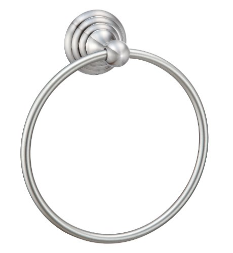 Hardware House H11-2109 Stockton Collection Towel Ring, Satin Nickel