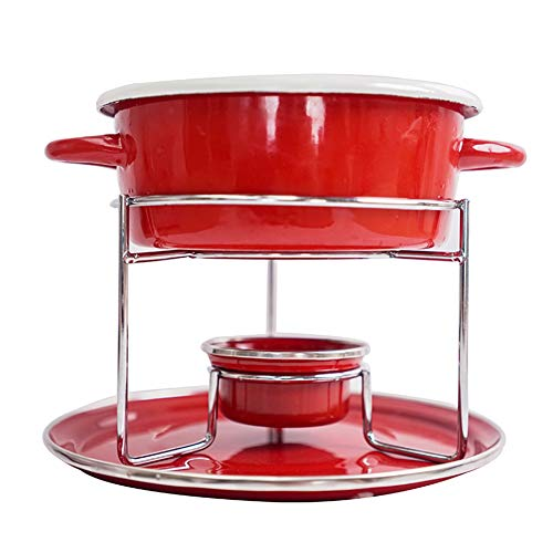 Red Cheese Fondue, Multi-function Binaural Cast Iron Pot, Fruit Ice Cream Fondue, Suitable For Cheese Chocolate Meat