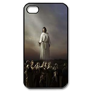 [H-DIY CASE] For Iphone 4 4S-Jesus Christ Love Us-CASE-1