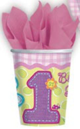 amscan Hugs & Stitches Girl 9 oz Cups - 8 ct -