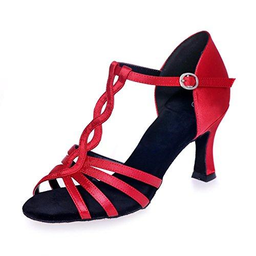 Red La Zapatos De Grandes Latinos Yardas Con yc Danza 5cm Las Interior L Pu Nude Multicoloras 7 Hebilla Los Mujeres Hwfq1gxW