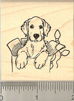 etriever Puppy Rubber Stamp ()