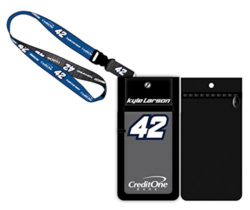 Kyle Larson #42 Credit One Bank Nascar Deluxe Credential Holder w/Lanyard