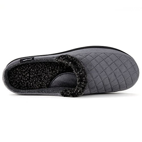 Zigzagger Men's Suede Fabric Memory Foam Slippers Slip On Clog House Shoes Indoor/Outdoor by Zigzagger (Image #4)