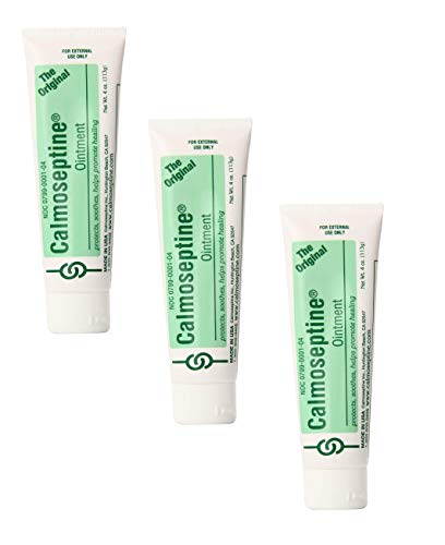 Calmoseptine Ointment Tube | 4 Ounce | Pack of 3