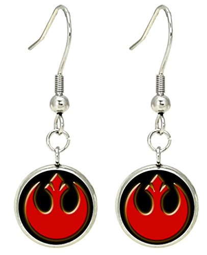 Hat Red Dangle (Star Wars Rebel Red Dangle Earrings Movies Comics Cartoons Books Premium Quality Cosplay Sci-Fi Jewelry Series)