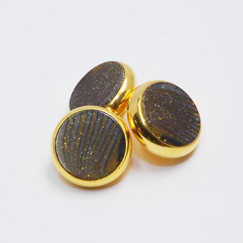 YAMAHA XENO Trumpet Finger Buttons Set of 3 24K Gold Plated with Space Dust Custom Inlay