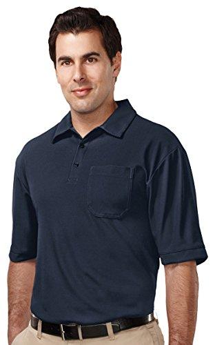 (Tri-mountain Mens 100% Polyester UC S/S Golf Shirt - NAVY - XXXX-Large)