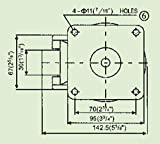 2PCS EDL GD-100F 1500kg Foot Levelling Adjustable