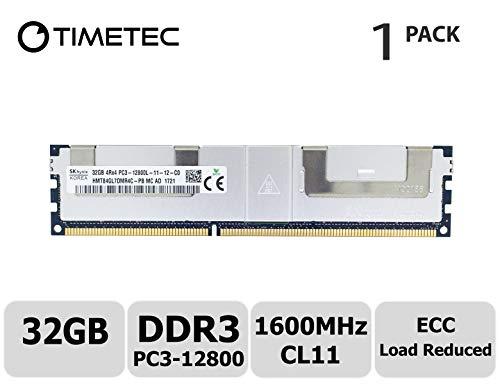 Timetec Hynix 32GB DDR3L 1600MHz PC3-12800 Load Reduced ECC 1.5V CL11 4Rx4 Quad Rank 240 Pin LRDIMM Server Memory RAM Module Upgrade (32GB) (Pin System 240 Ibm)