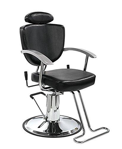 Barbero silla multiusos Classic hidráulico silla reclinable de peluquería belleza Equipo de champú de Spa (negro)