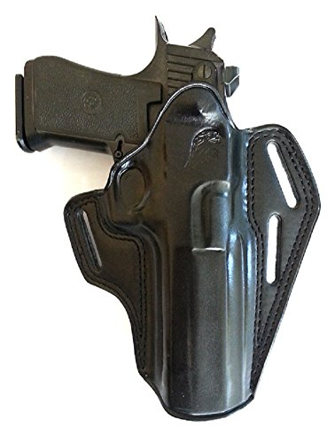 LEATHER PANCAKE (OWB) HOLSTER FOR DESERT EAGLE, FITS ALL CALIBARS WITH 6'' BARREL (BLACK - Delivery Ups Worldwide Times