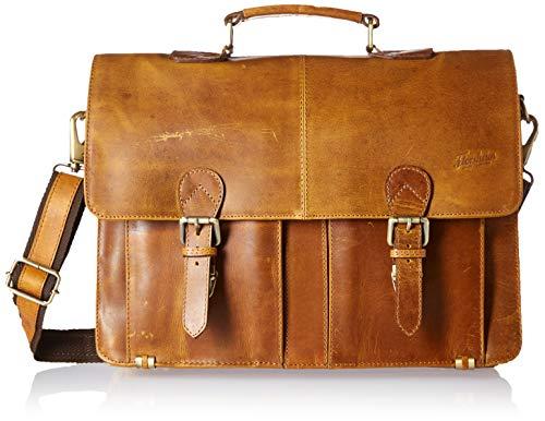 Florsheim Vintage Leather Portfolio Bag Briefcase Cognac One Size ()