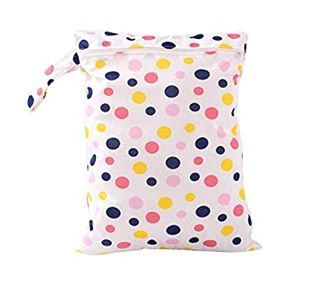 Leisial Cloth Nappy Wet Bags Reusable Diaper Bag Washable Zipper Bag for Swimsuits Wet Clothes Soiled Baby