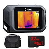 FLIR C2 Compact Full-Featured Thermal Imaging System (72001-0101) w/Compact Deluxe Gadget Bag + 32GB MicroSD Memory Card and 1 Year Extended Warranty Essential Bundle