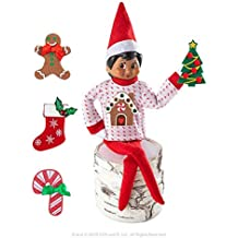 The Elf on the Shelf Boy Sweater Set - One Sweater with 5 Attachable Decals - Dress Your Elf 5 Different Ways