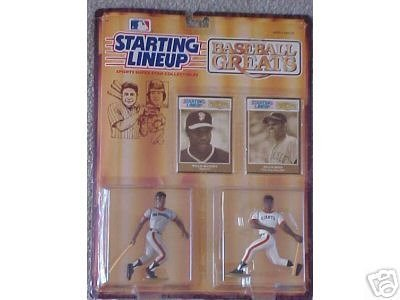 Starting Lineup Baseball Greats  Willie McCovey and Willie Mays by Kenner