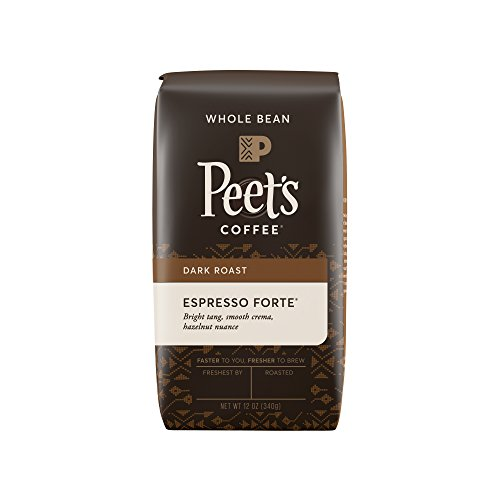 Peet's Coffee, Espresso Long suit Dark Roast, Whole Coffee Bean, 12 oz. Bag, Robust, Rounded Body, a Balanced Stout and Bright Blend Specific for Espresso, with Savoury Flavor and Crema