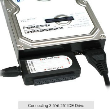 Ophion USB 2.0 TO SATA/IDE 2.5/3.5/5.25-INCH Hard Disk Drive With Power Supply Supports by Ophion (Image #2)