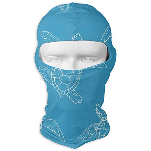 MISSMORN Face Mask Headwear Little Turtle Contour Motorcycle Skull Full Face Mask Thermal Windproof Ski Head Hood Helmet Liner Gear Cycling Mask -