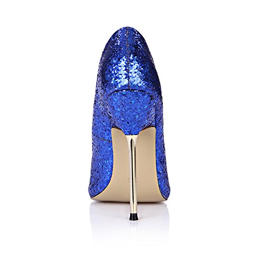 Glitter Dress Peep Stiletto Pumps MULTI COLORS Fashion Women High Heels DolphinGirl DOrsay Shoes Prime Glitter Blue ecV0HTYIYV