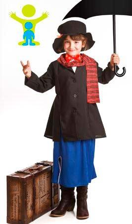 Disfraz de Señorita Poppins para niña: Amazon.es: Juguetes y ...