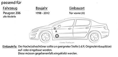 Einbauset f/ür Peugeot 407 16cm Auto Einbauzubeh/ör 300Watt Koaxe KFZ PKW Paar Lautsprecher Boxen JVC CS-J610X JUST SOUND best choice for caraudio