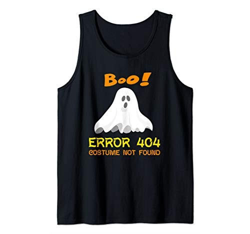 Error 404 Costume Not Found Boo Halloween Tank Top -