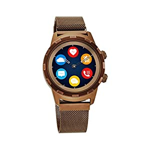 Titan Connected X Brown Hybrid Smartwatch for Men with Heart Rate Monitor + Full Touch Display + Interchangeable strap…
