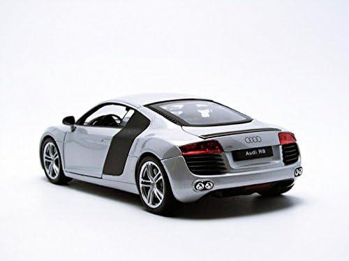 Audi R8 argent échelle 1:24 Welly 22493 S nouveau