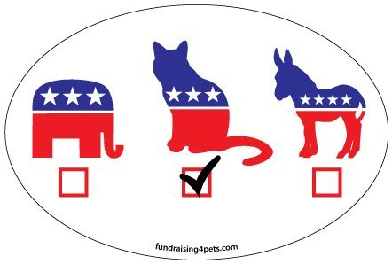 Fundraising4pets OVL130 Vote oval magnet