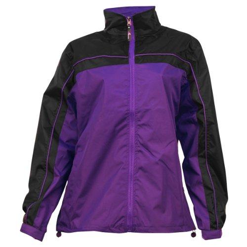 Apparel No. 5 Women's Smart Windbreaker Jacket,Medium,Purple / black