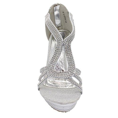 Silver compensée Semelle London femme Footwear Ya6Inf1