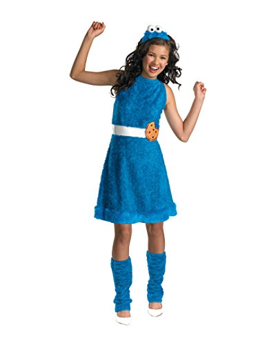 Girls Cookie Monster Teen (As Shown;14 To 16) (Cute Monster Costumes For Girls)