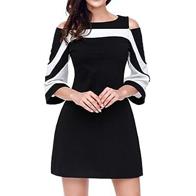 Woaills ??Women Pullover Tops Blouse,Ladies's Long Sleeve O-Neck Sweatshirt PaTctwork Shirt
