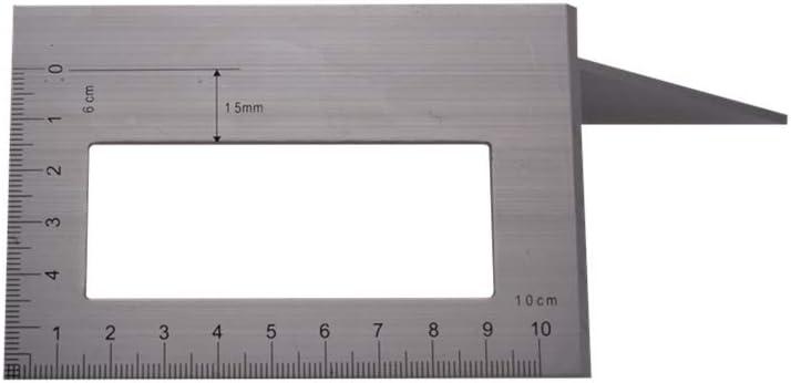 R/ègle 45 90 Degr/és Chou 1pc R/ègle Multifonctionnel Alliage Daluminium