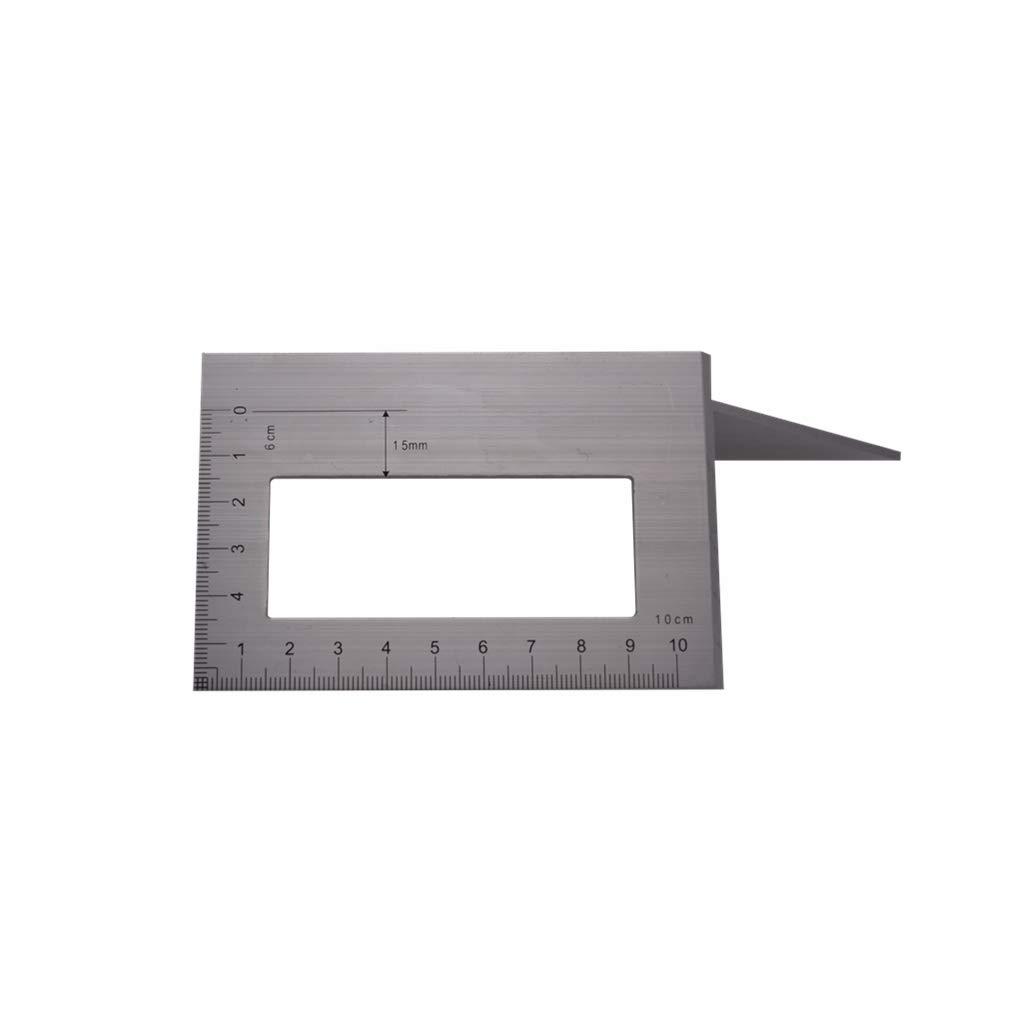 Aluminiumlegierungs-h/ölzernes Quadratisches Multifunktionsmachthaber VIVIANU 45//90 Grad-Lehre F/ür Die Holzbearbeitung