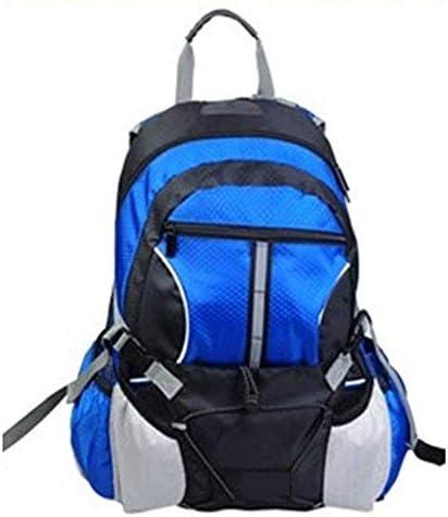 BAJIMI ハイキングバックパック、ハイキング旅行バックパックアウトドアスポーツのバックパックユニセックスバックパック旅行バッグ、ブルーを実行している学生のバックパック、アウトドアスポーツサイクリングバッグ