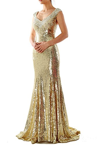 Long MACloth Mermaid Women Wedding Dress Formal Sequin Gown Evening Fuchsia Party Prom qRptWrwp5x