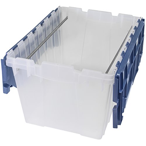 Akro-Mils 66486 FILEB 12-Gallon Plastic Storage Hanging File Box with Attached Lid, 21-1/2-Inch by 15-Inch by 12-1/2-Inch, Semi-Clear, Pack of 1 (Hanging File Storage)