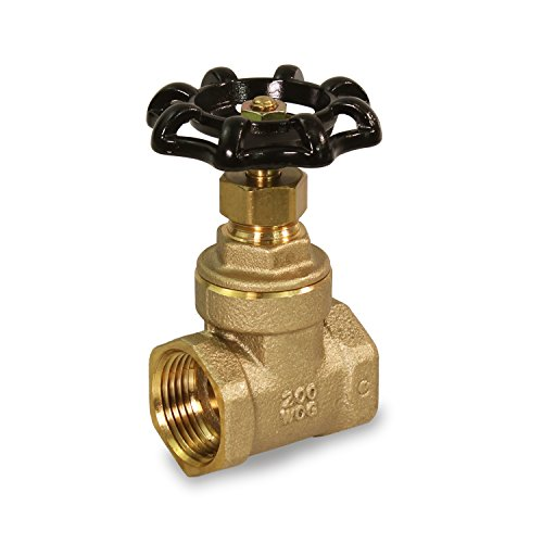 Everflow Supplies 205T034-NL IPS Threaded Brass Gate Valve 3/4 Inch-Lead Free by Everflow Supplies