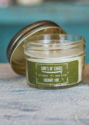 b79353132890 Image Unavailable. Image not available for. Color: Surf's Up Mini Mason Jar  Single Wick Soy Candle ...