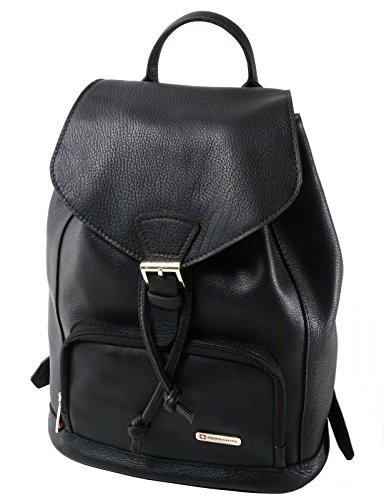 Womens Alpine Swiss Tiber Genuine Leather Backpack Purse Shoulder Bag (Cow Hide Bag)