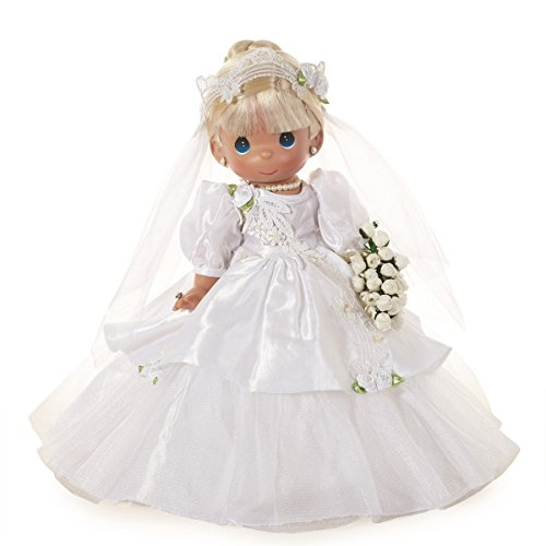 Precious Moments Dolls by The Doll Maker, Linda Rick, I Do, Bride, Blonde, 12 inch Doll - Doll Precious Vinyl Moments