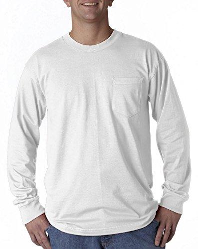 Bayside 8100 Pocket Long-Sleeve Tee White XXX-Large ()