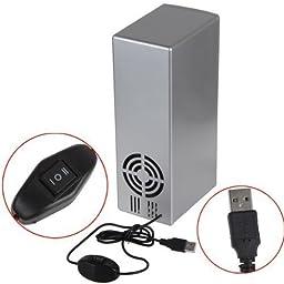 Mini PC USB Cooler & Warmer, HQF® Portable USB Beer Beverage Drink Cans Fridge Cans Cooler Warmer for Cold / Hot Beverage Drinks (Silver, Bigger Size)