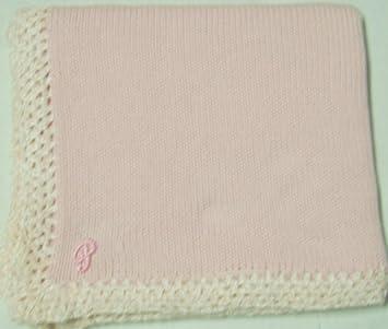 Amazoncom Knitted On Hand Knitting Machine Baby Pink Cotton Hand